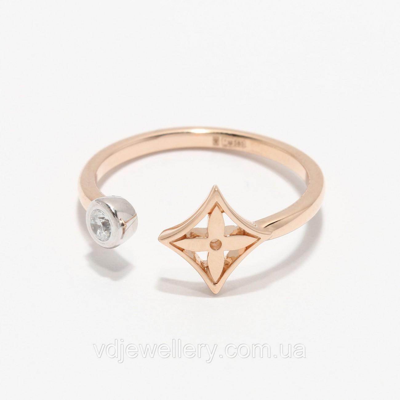 Золотое кольцо Louis Vuitton НХК-66