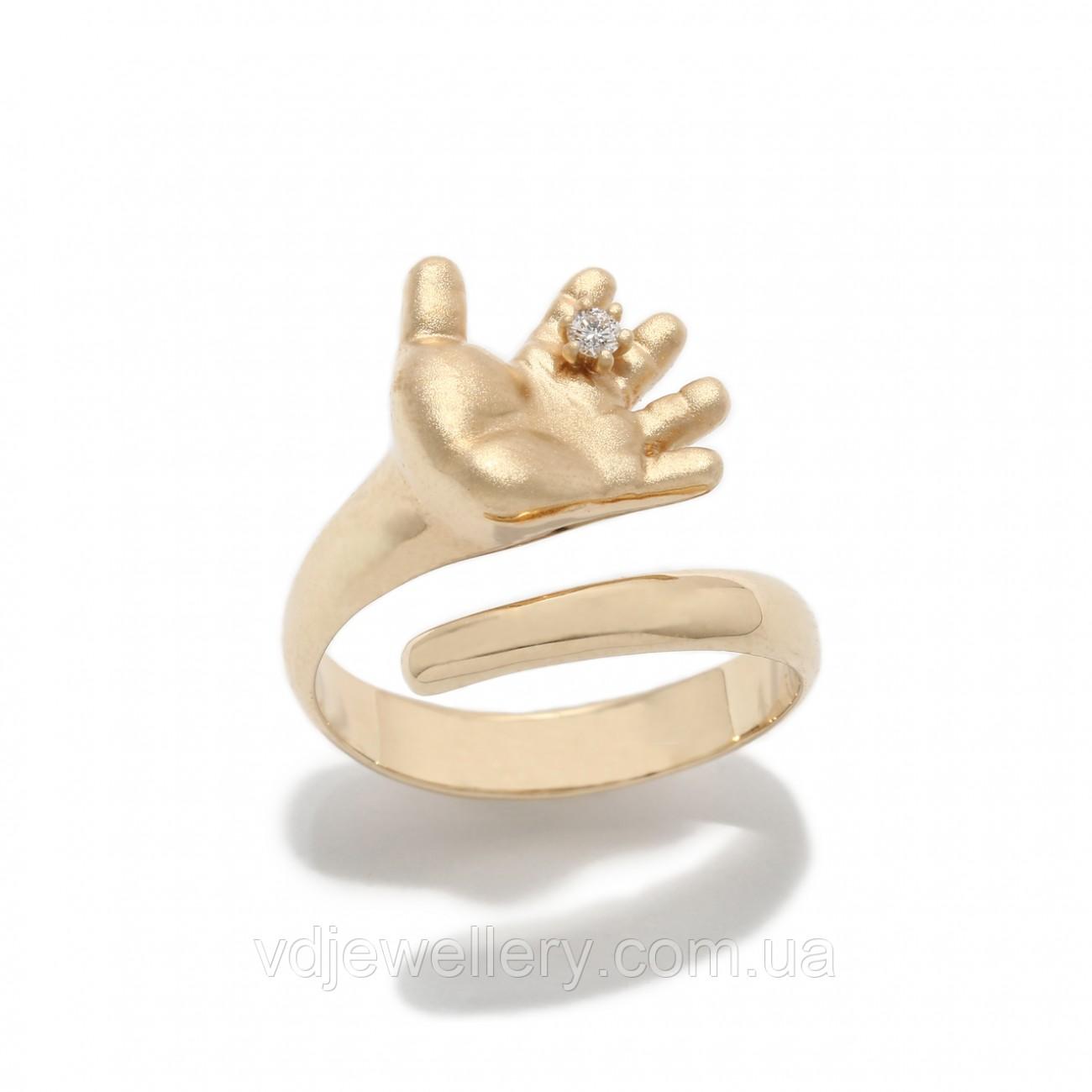 "Золотое кольцо ""Ладошка младенца"" 2231788"