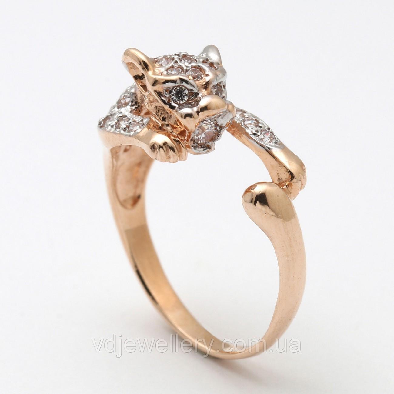 """Золотое кольцо """"Пантера"""" 2210489"""