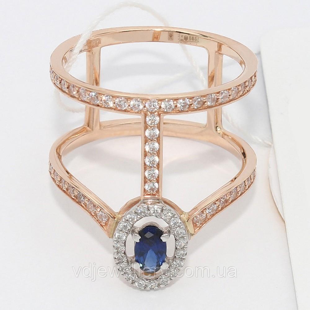 Золотое кольцо с сапфиром НХК-19