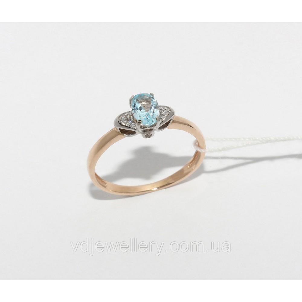 Золотое кольцо с топазом НХК-61