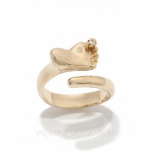 """Золотое кольцо """"Ножка младенца"""" 2231486"""