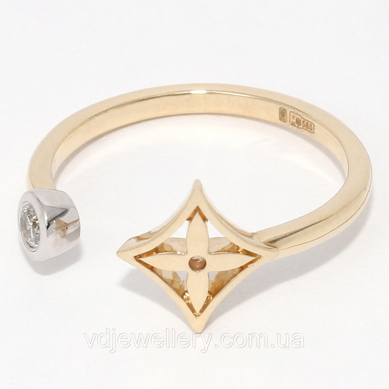 Золотое кольцо Louis Vuitton НХК-24