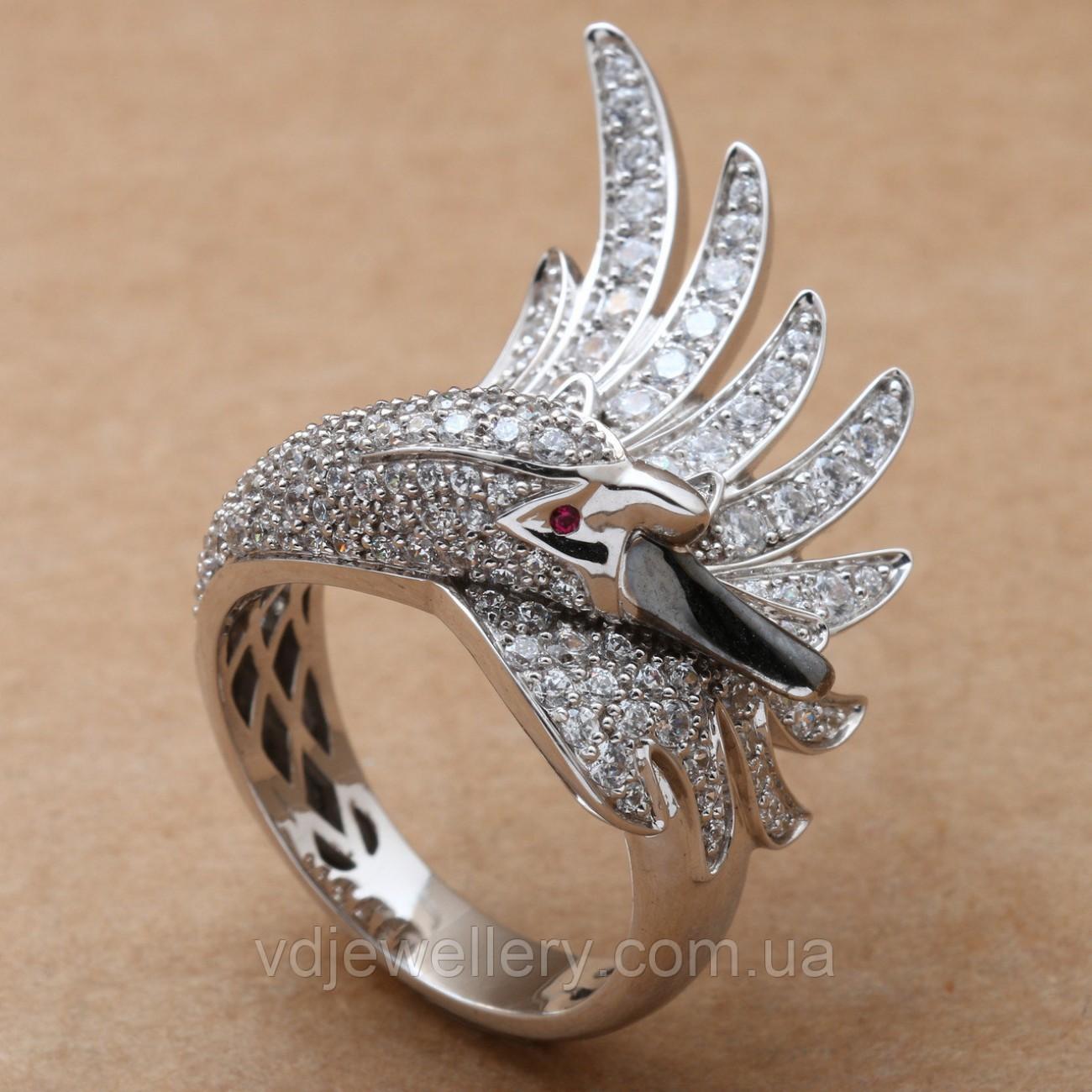 """Золотое кольцо """"Лебедь"""" 2231332"""