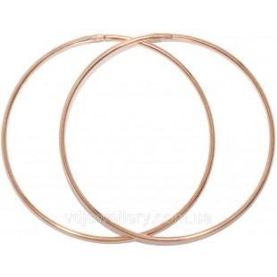 Золотые серьги кольца 50мм(Конго) 1200099