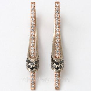 Золотые серьги с бриллиантами 1230624