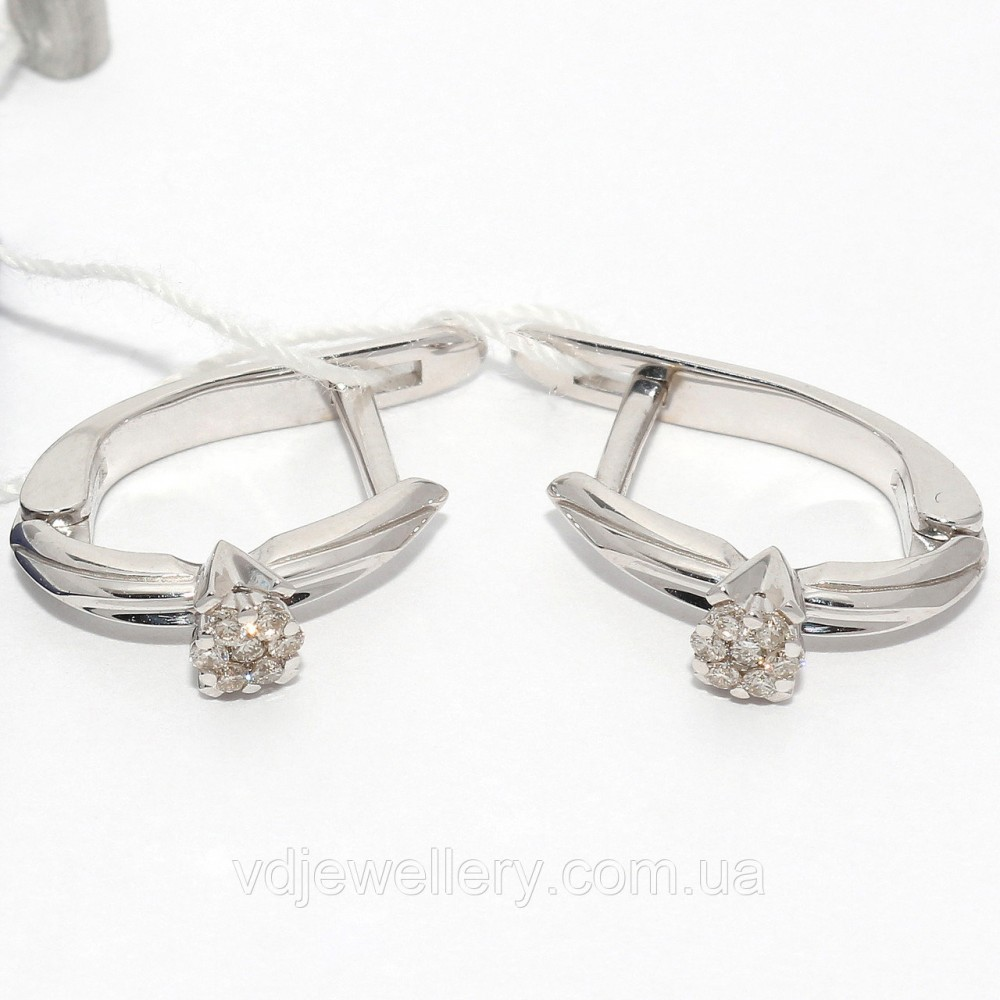 Золотые серьги с бриллиантами СЗХ-51