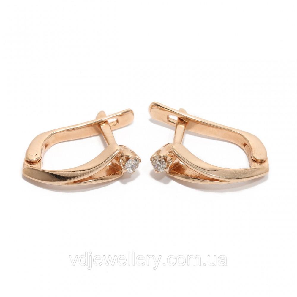 Золотые серьги с бриллиантами 2297534