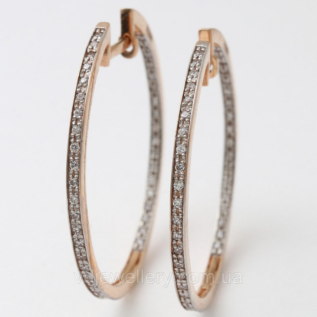 Золотые серьги кольца 1211101