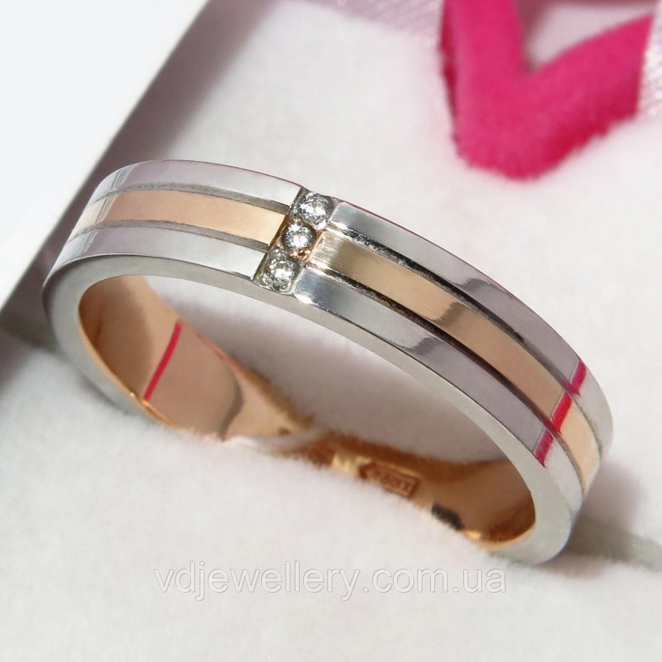 Золотое обручальное кольцо ХОК-17