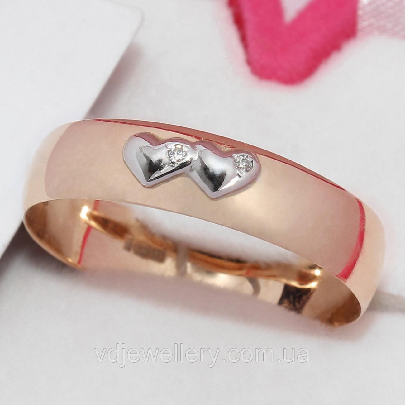Золотое обручальное кольцо ХОК-23