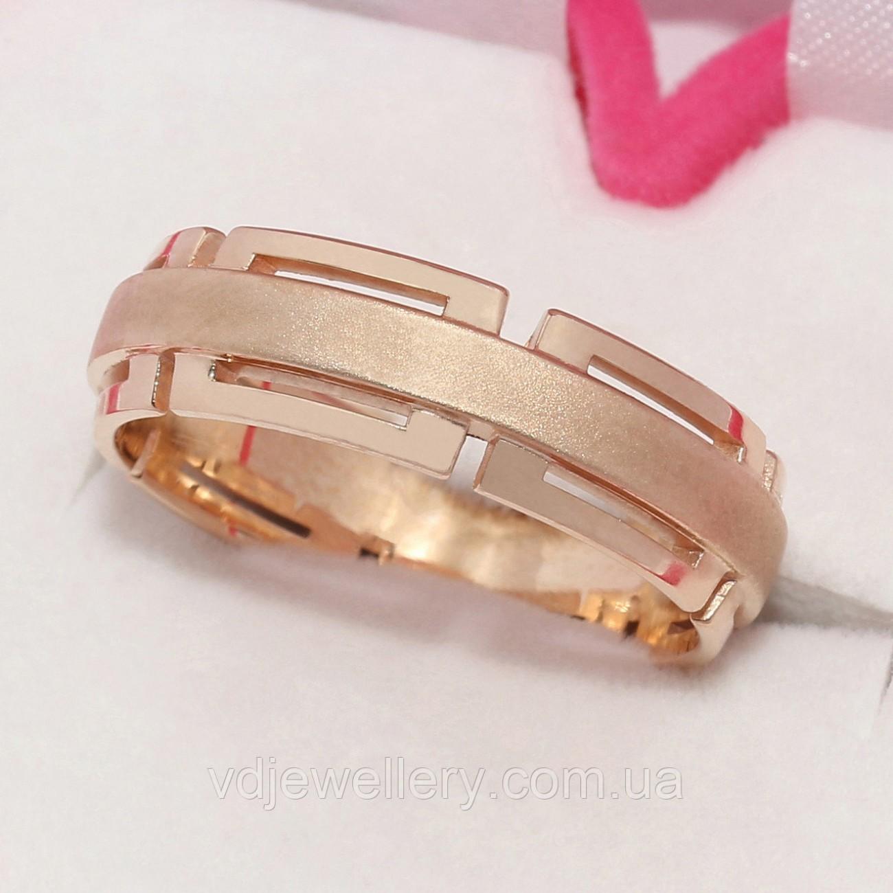 Золотое обручальное кольцо ХОК-6