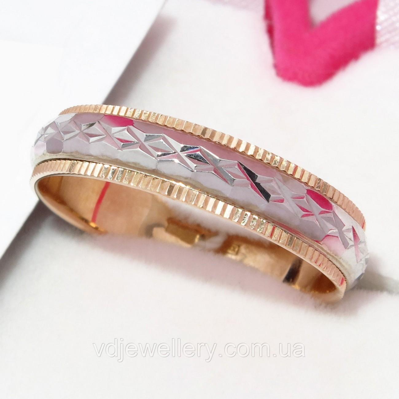 Золотое обручальное кольцо ХОК-19