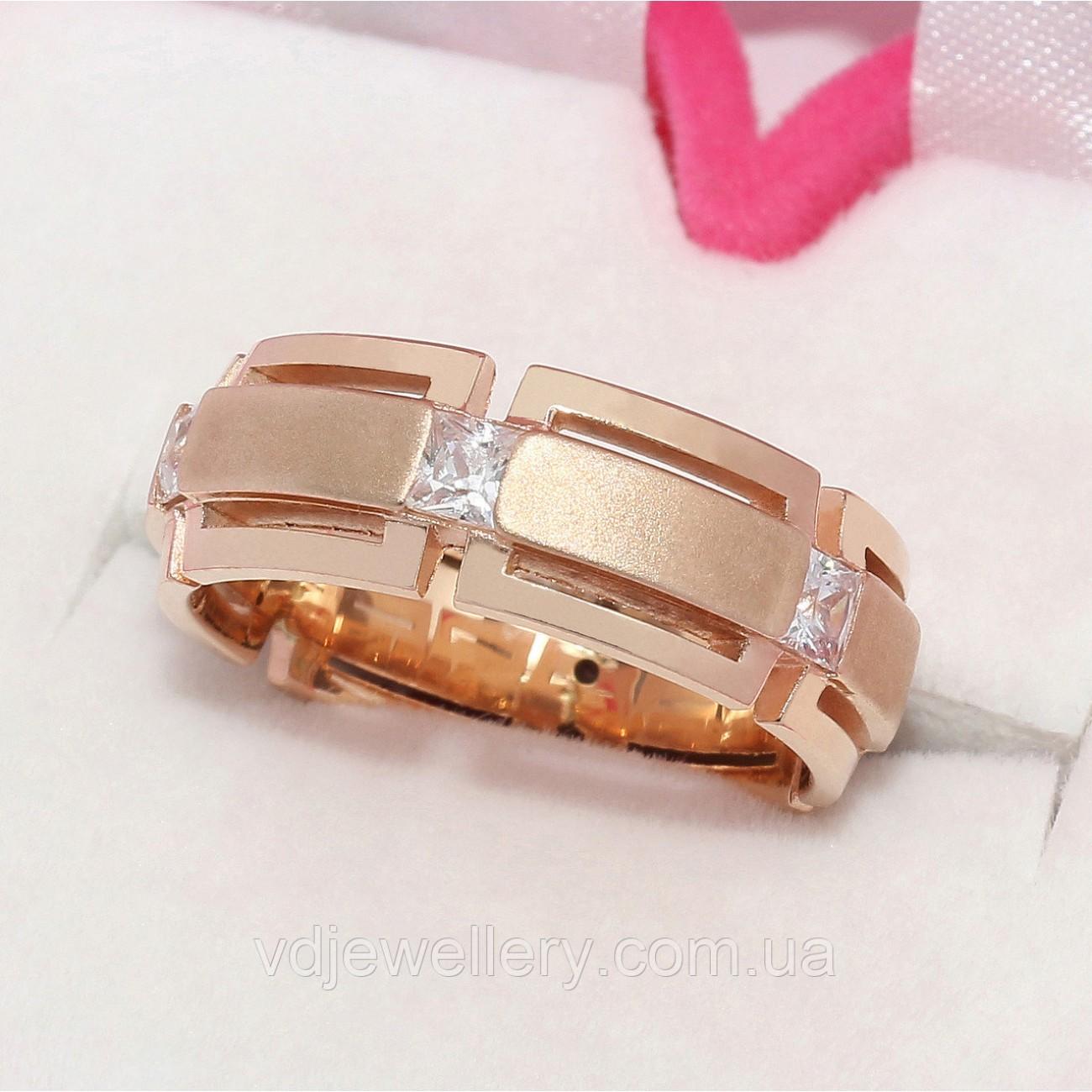 Золотое обручальное кольцо ХОК-5