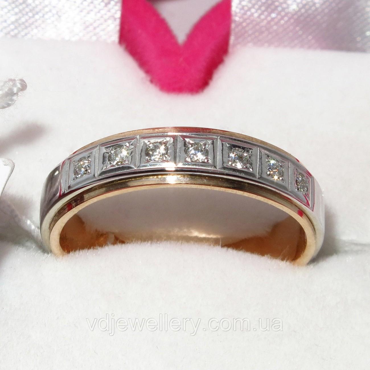 Золотое обручальное кольцо ХОК-7