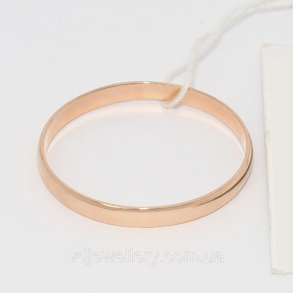 Золотое обручальное кольцо 200001