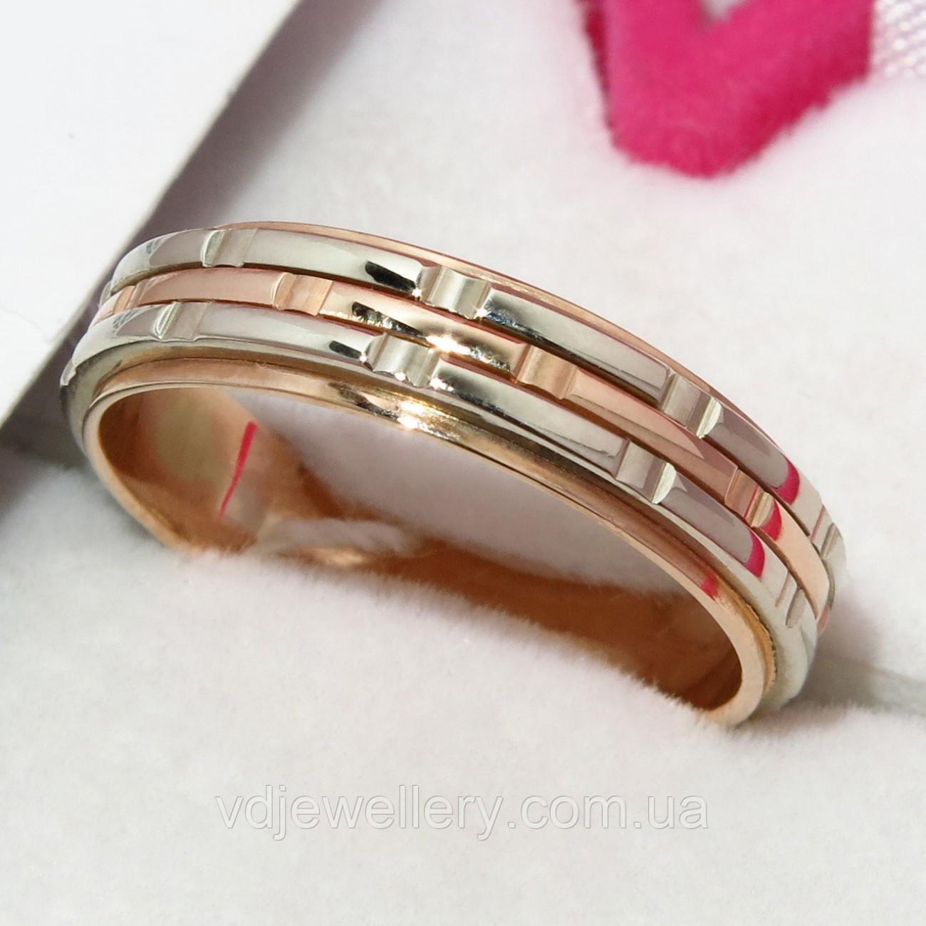 Золотое обручальное кольцо ХОК-16