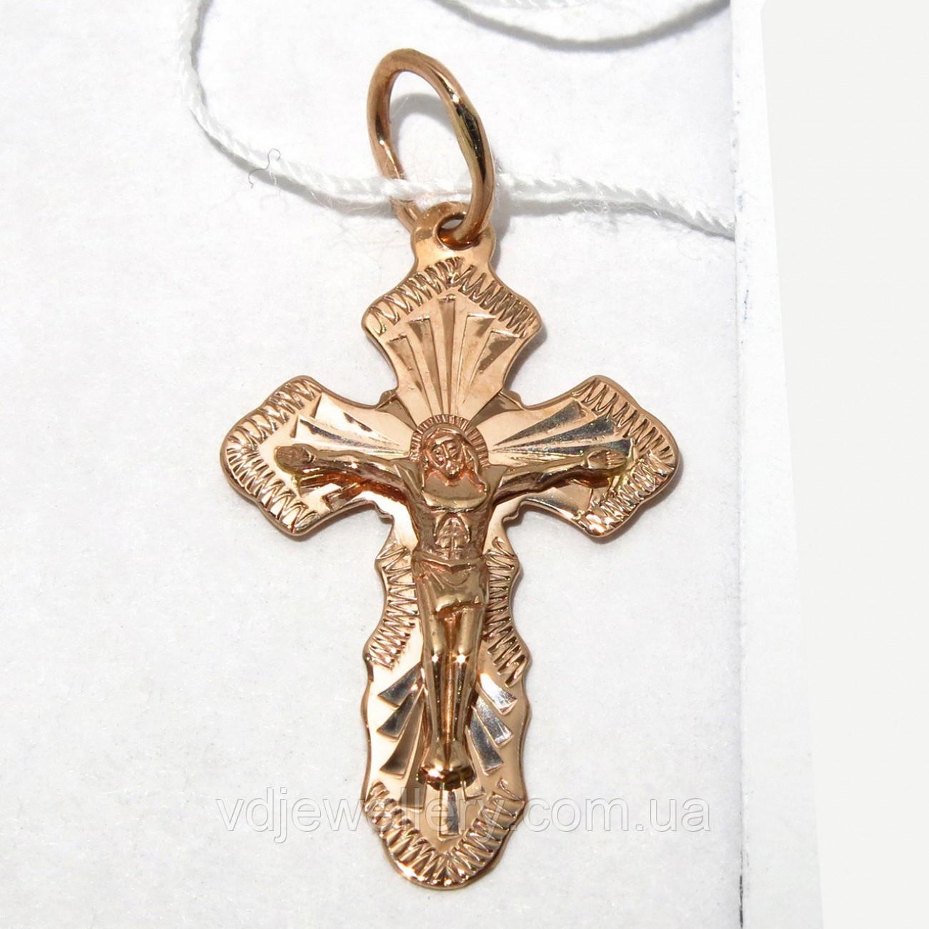 Золотой крестик 11113