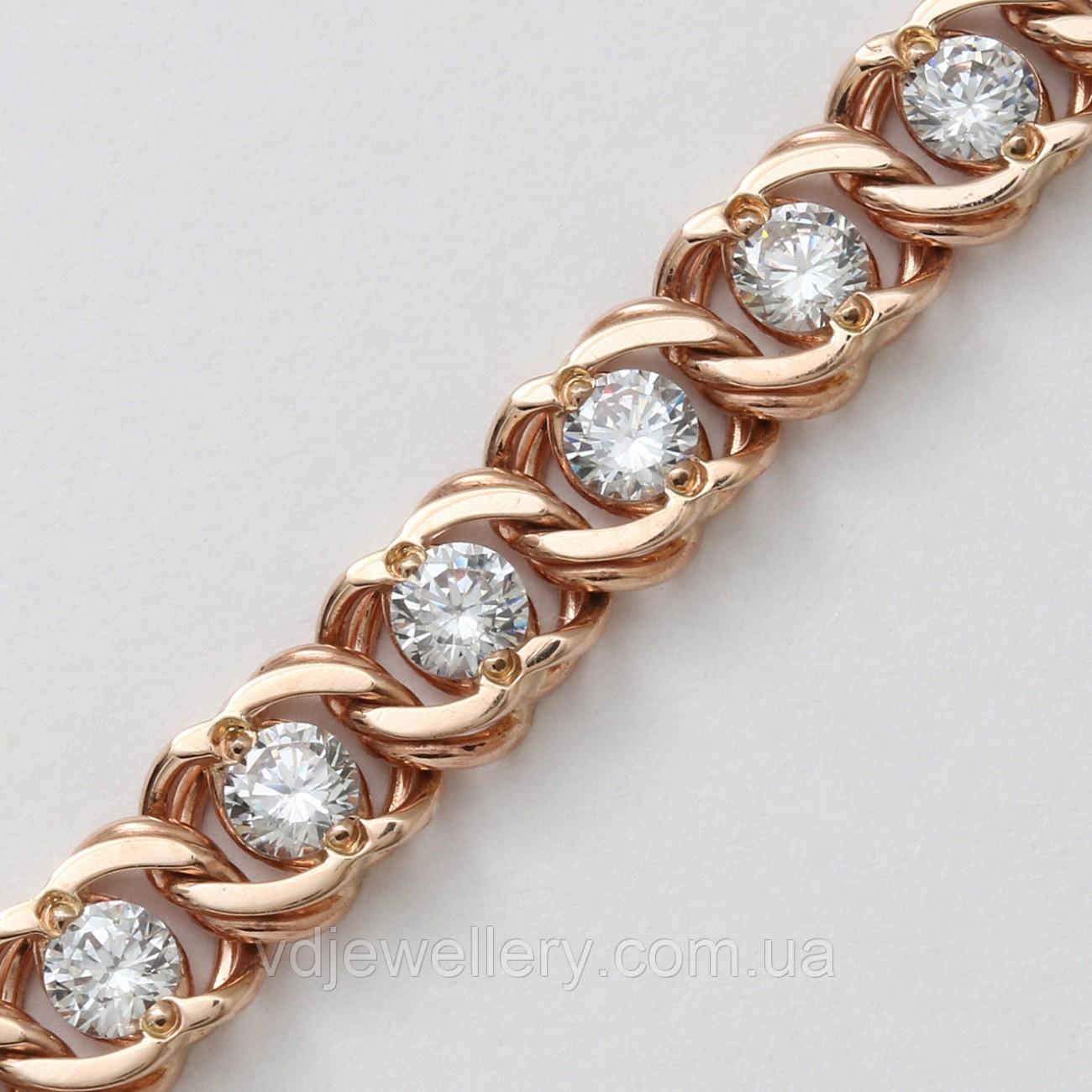Золотой браслет с камнями 5210647