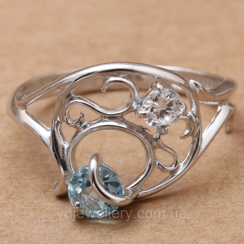 Серебряное кольцо с топазом КЖХ-133