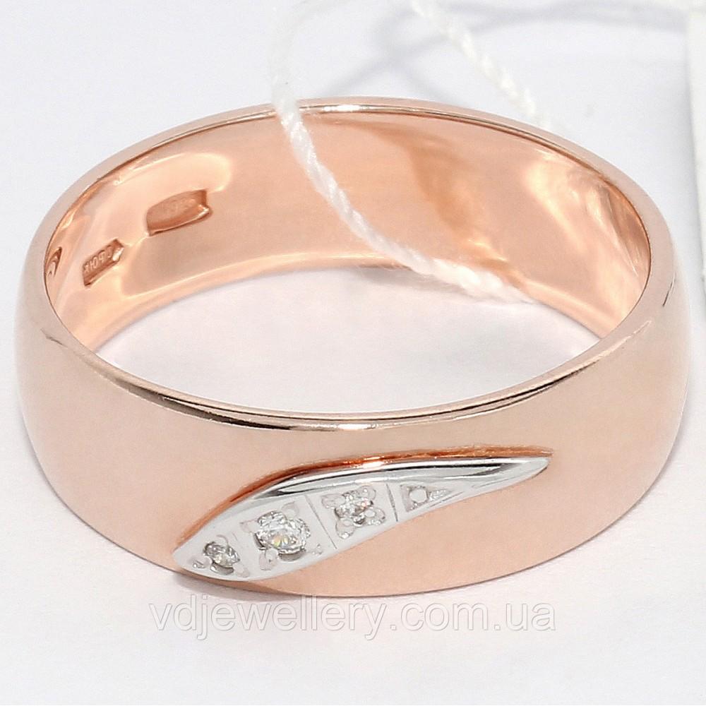 Серебряное позолоченое обручальное кольцо КЖХ-33