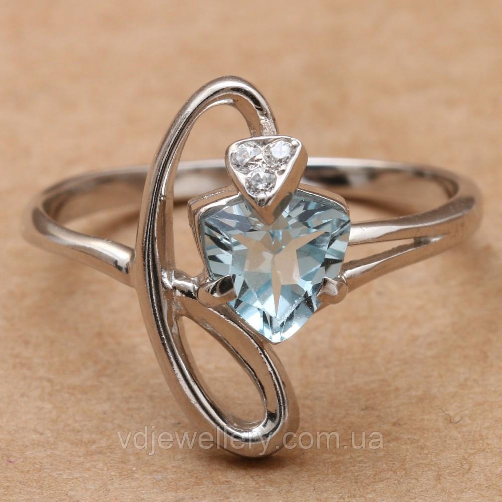 Серебряное кольцо с топазом КЖХ-129