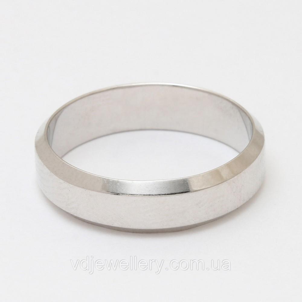 Серебряное обручальное кольцо КЖХ-37