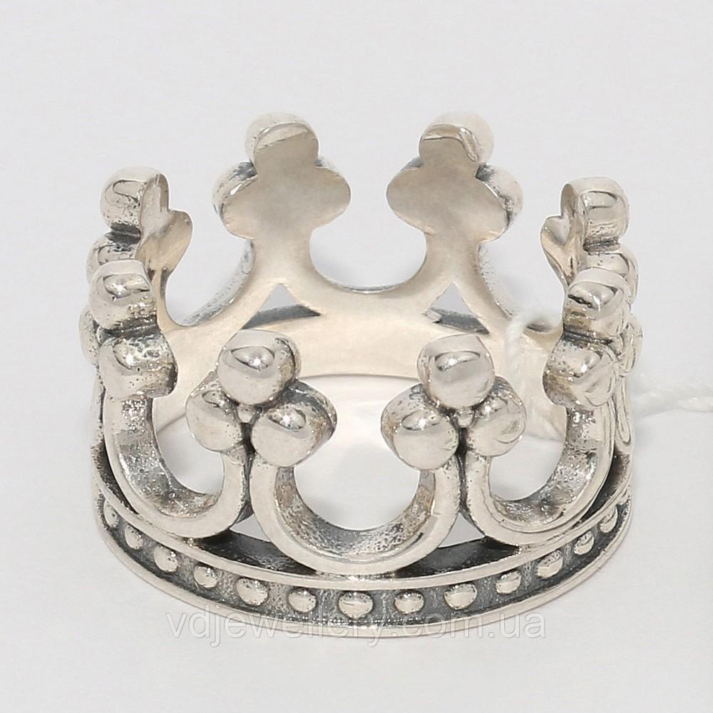 Серебряное кольцо Корона 87КЮ