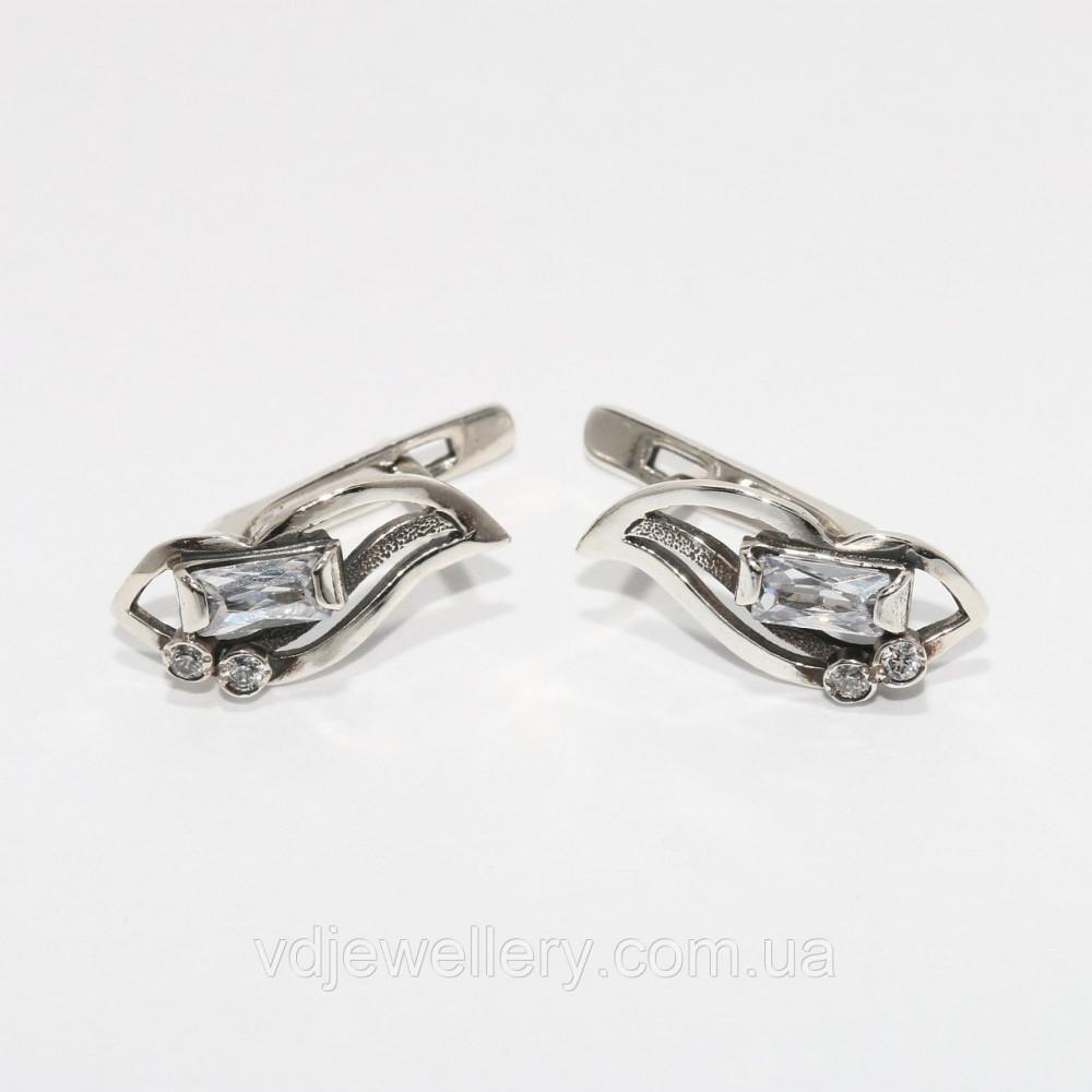 Серебряные серьги 44КН