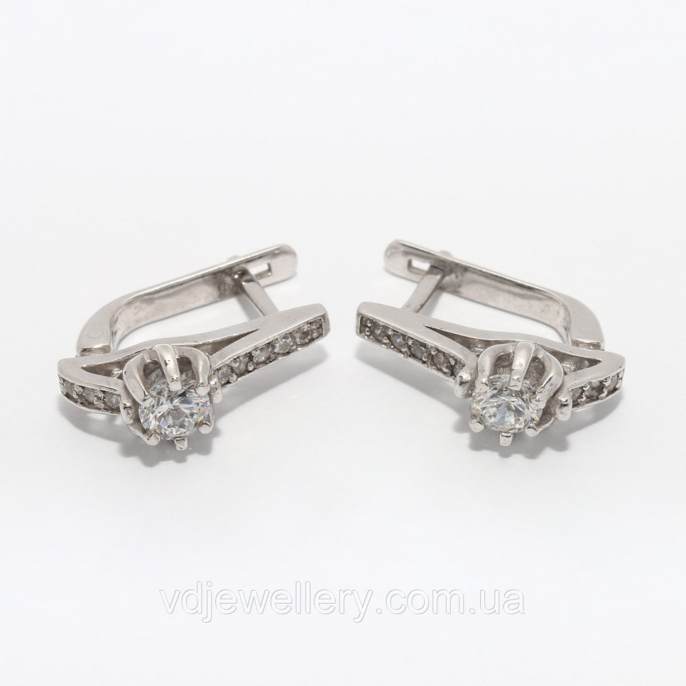 Серебряные серьги 114КН