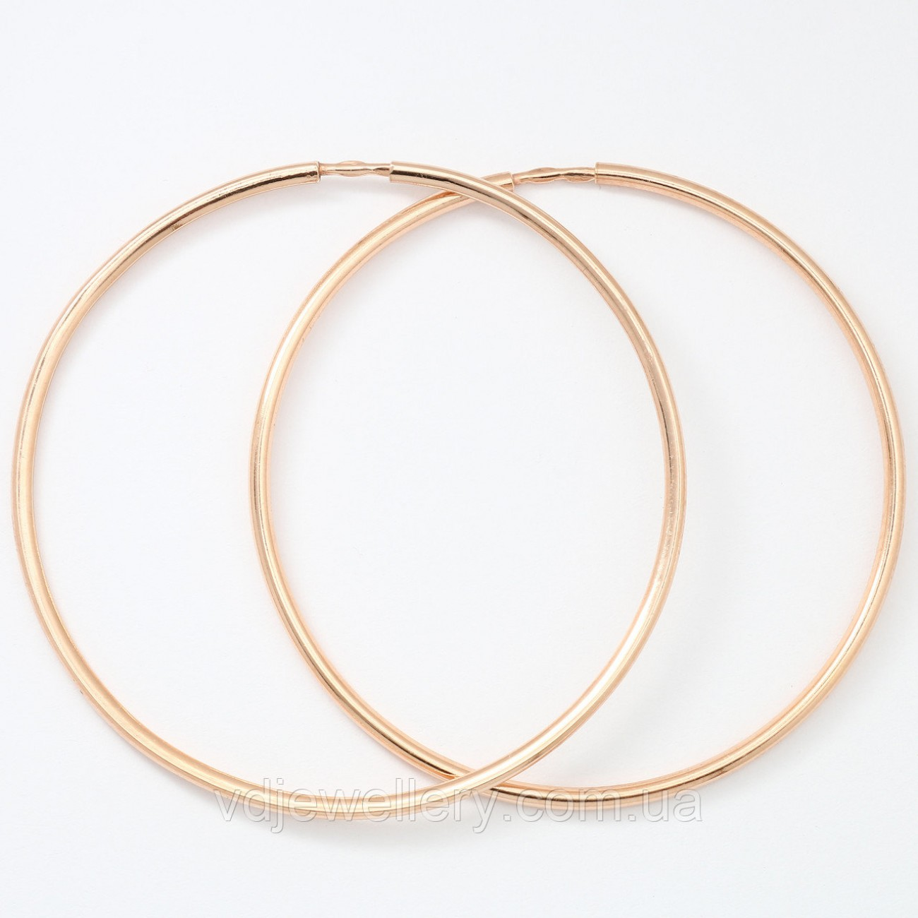Позолоченные серьги кольца 55мм СЖХ-160