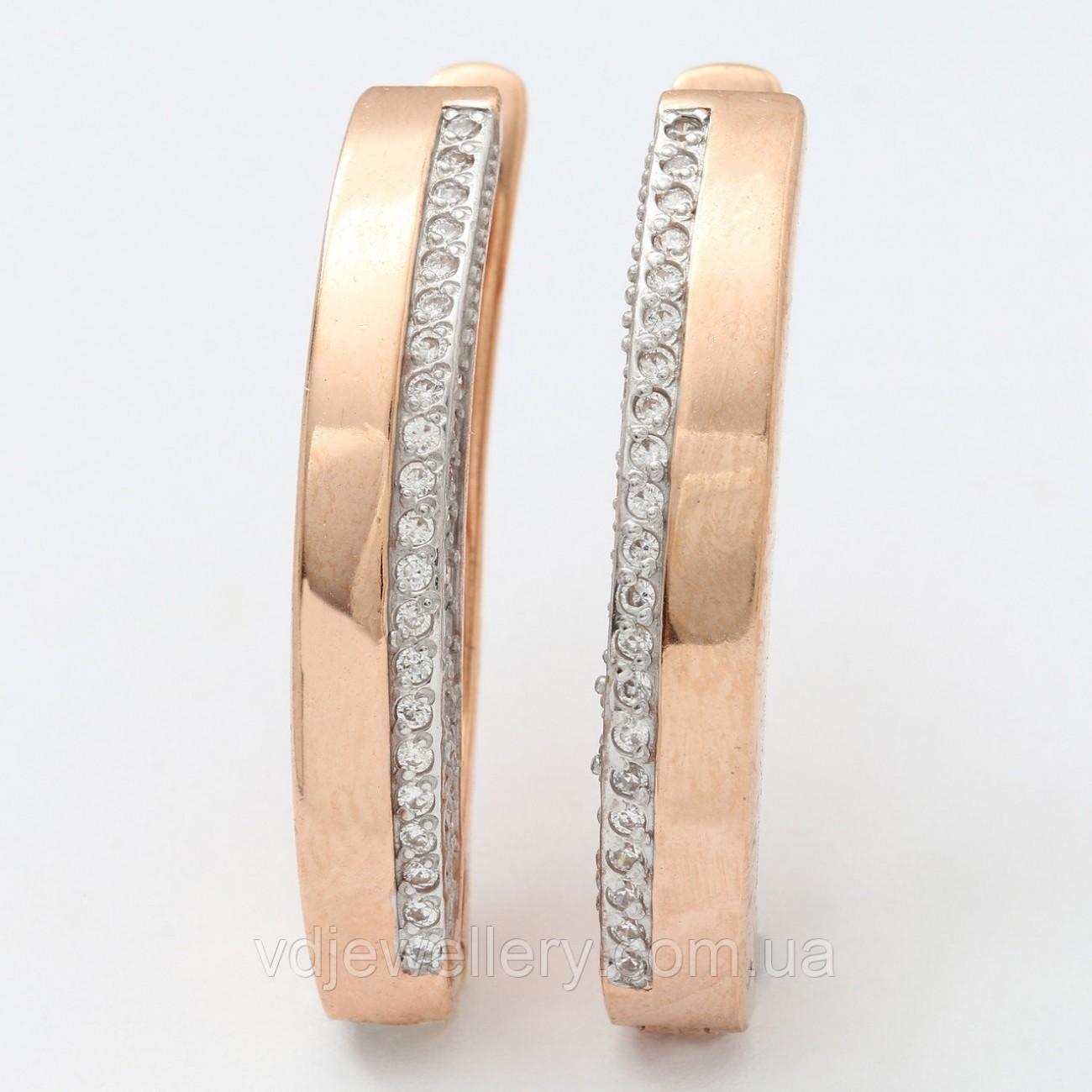 Позолоченные серебряные серьги СЖХ-161