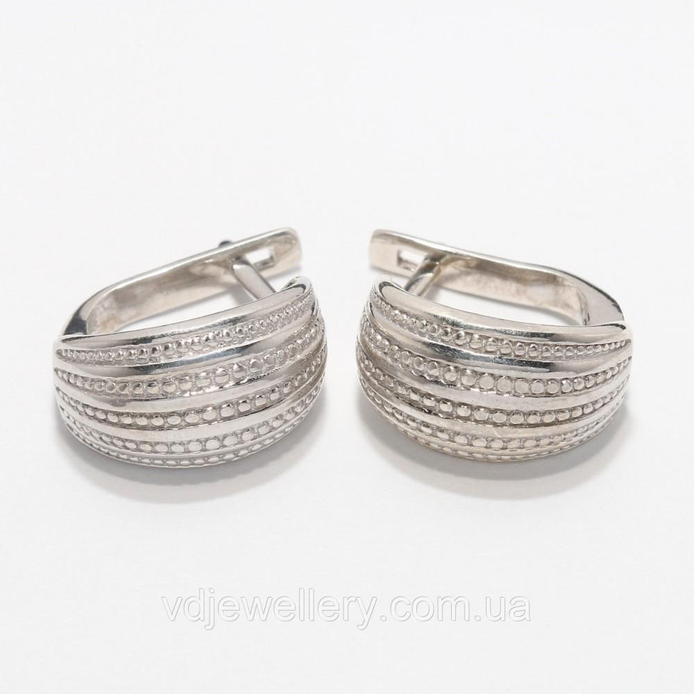 Серебряные серьги 167КН