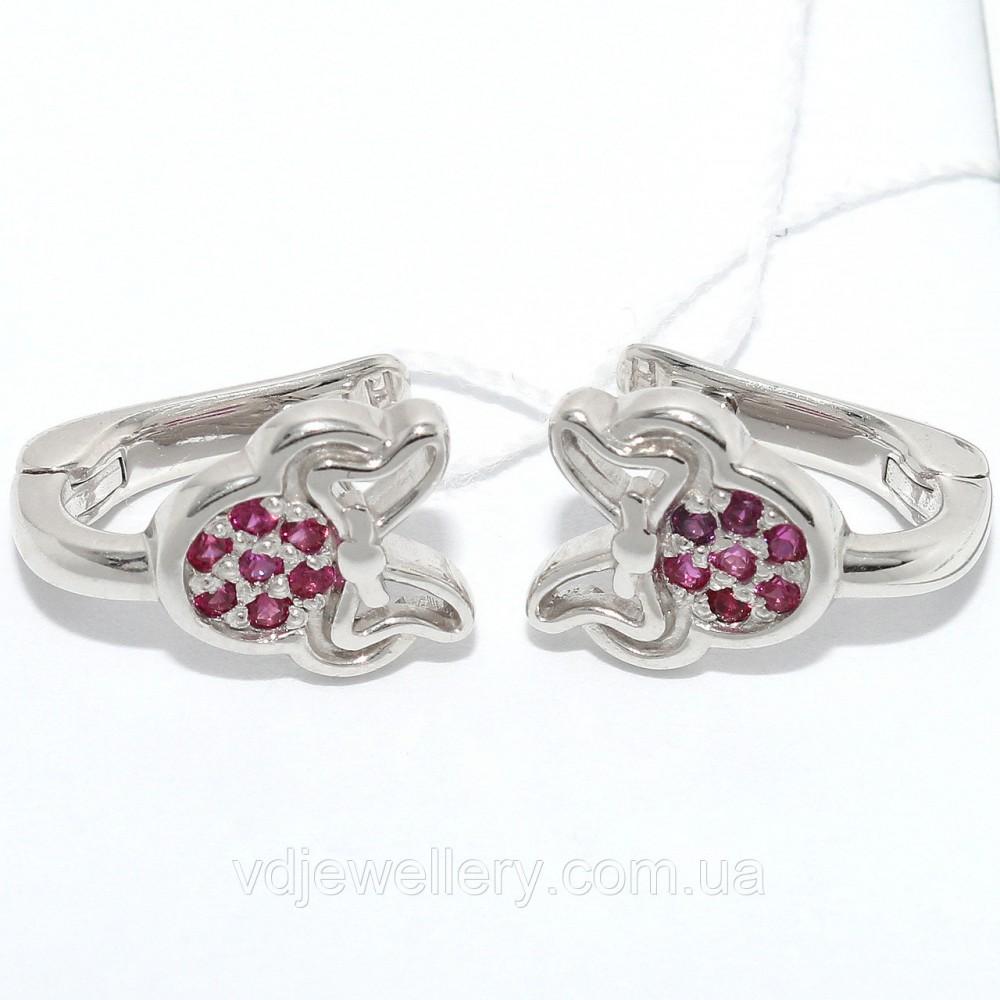 Серебряные серьги СЖХ-32