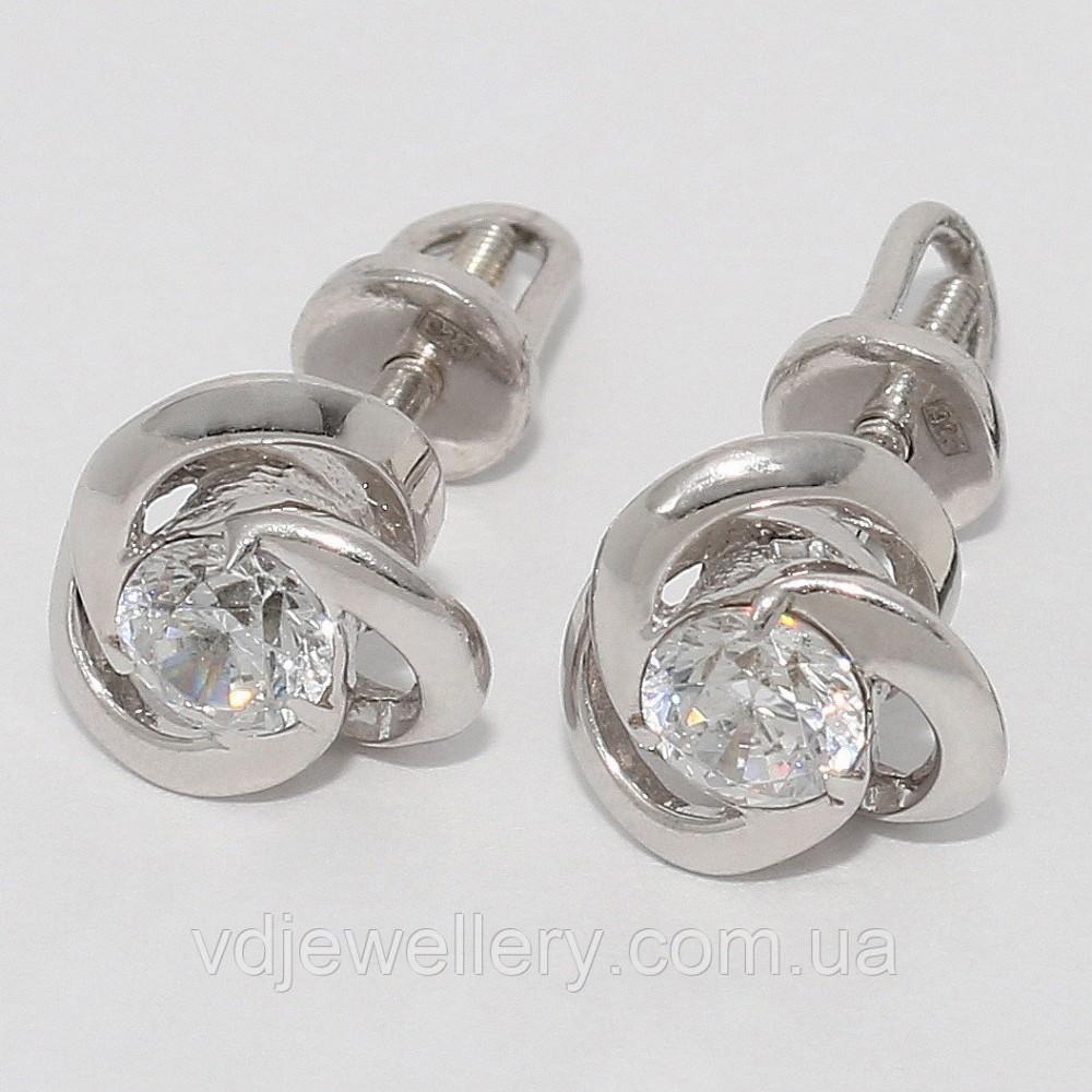 Серебряные серьги 24КН