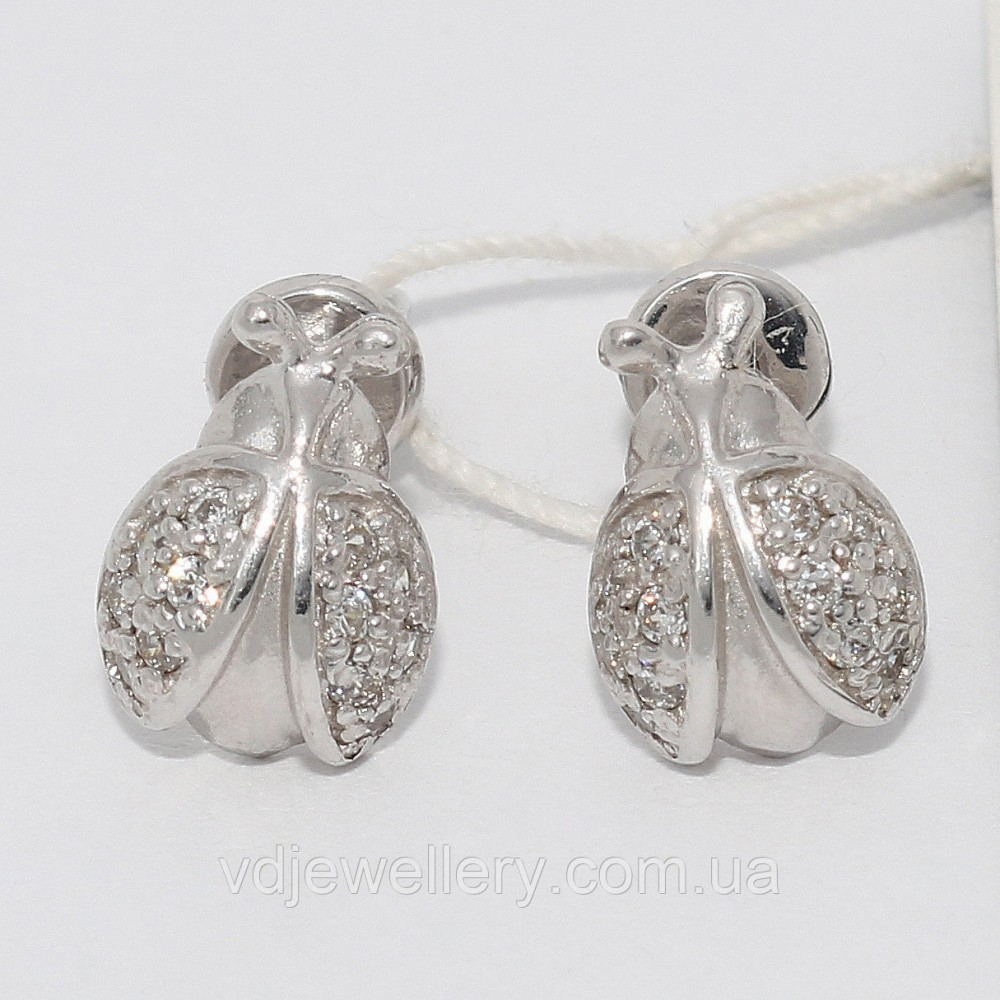 Серебряные серьги 15КН