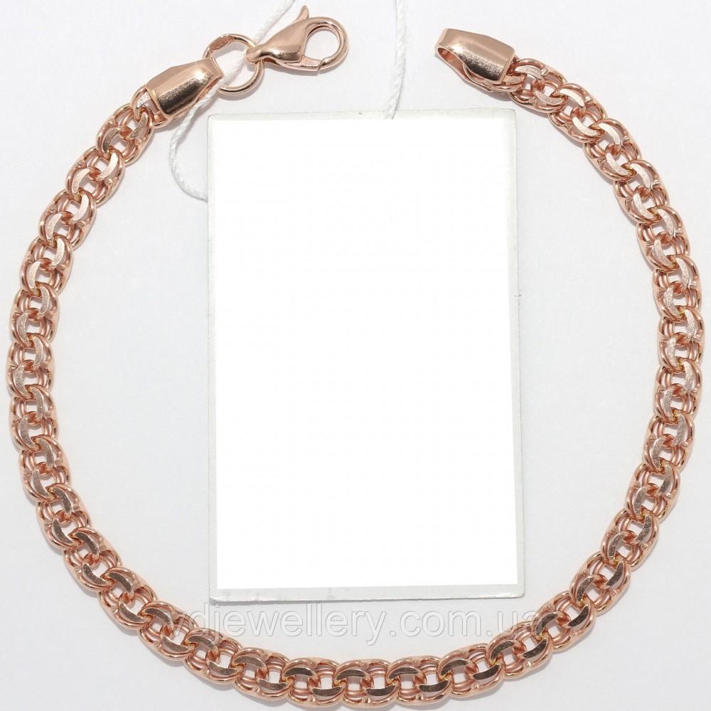 Серебряный браслет с позолотой БХН-14