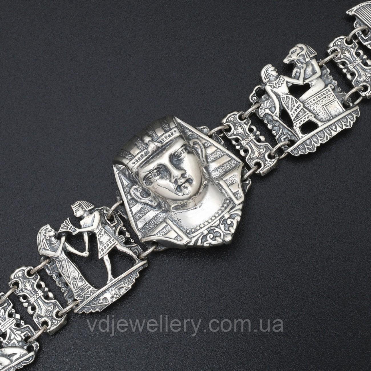 Женский серебряный браслет 77ЦФ