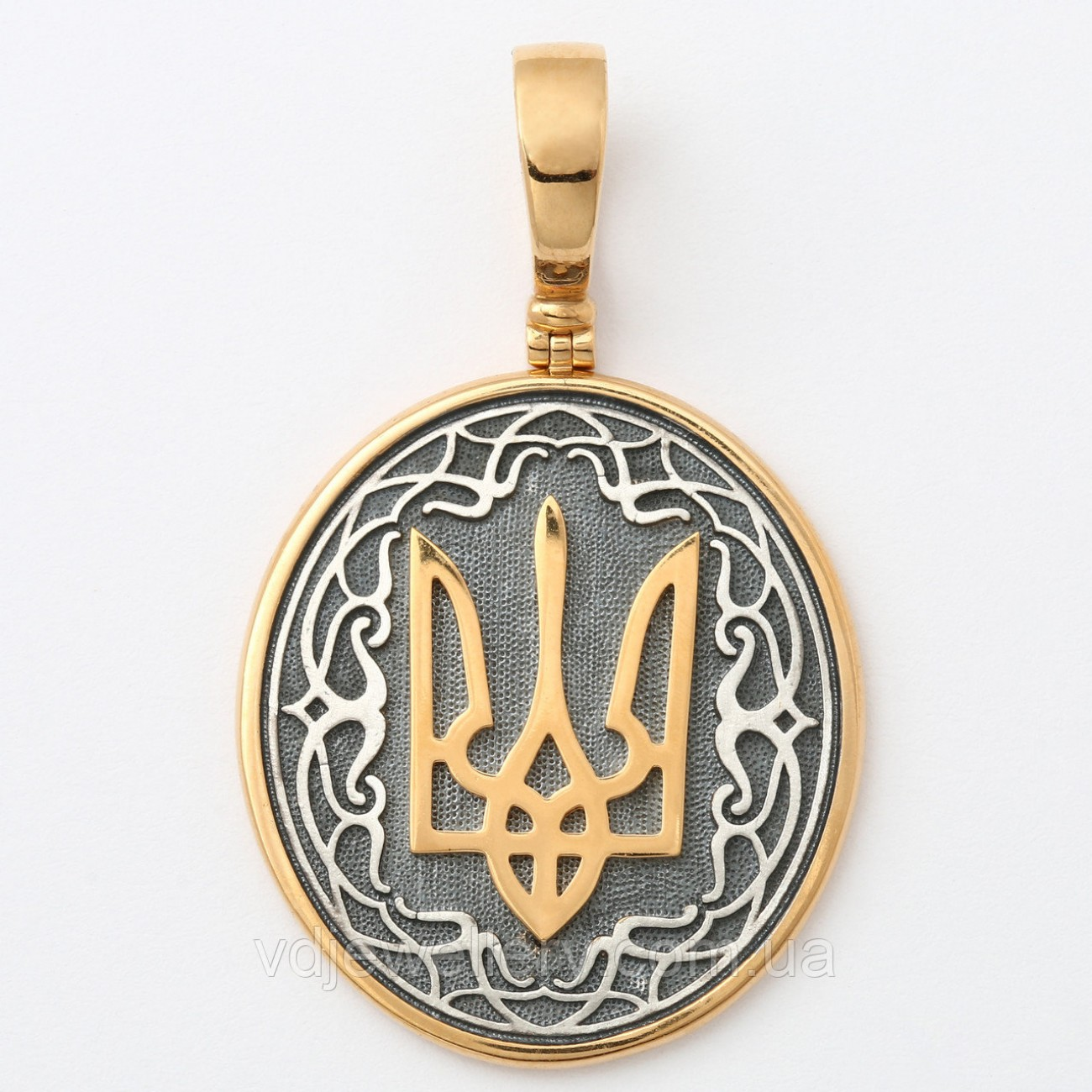 """Серебряный кулон """"Герб Украины"""" КСХ-49"""