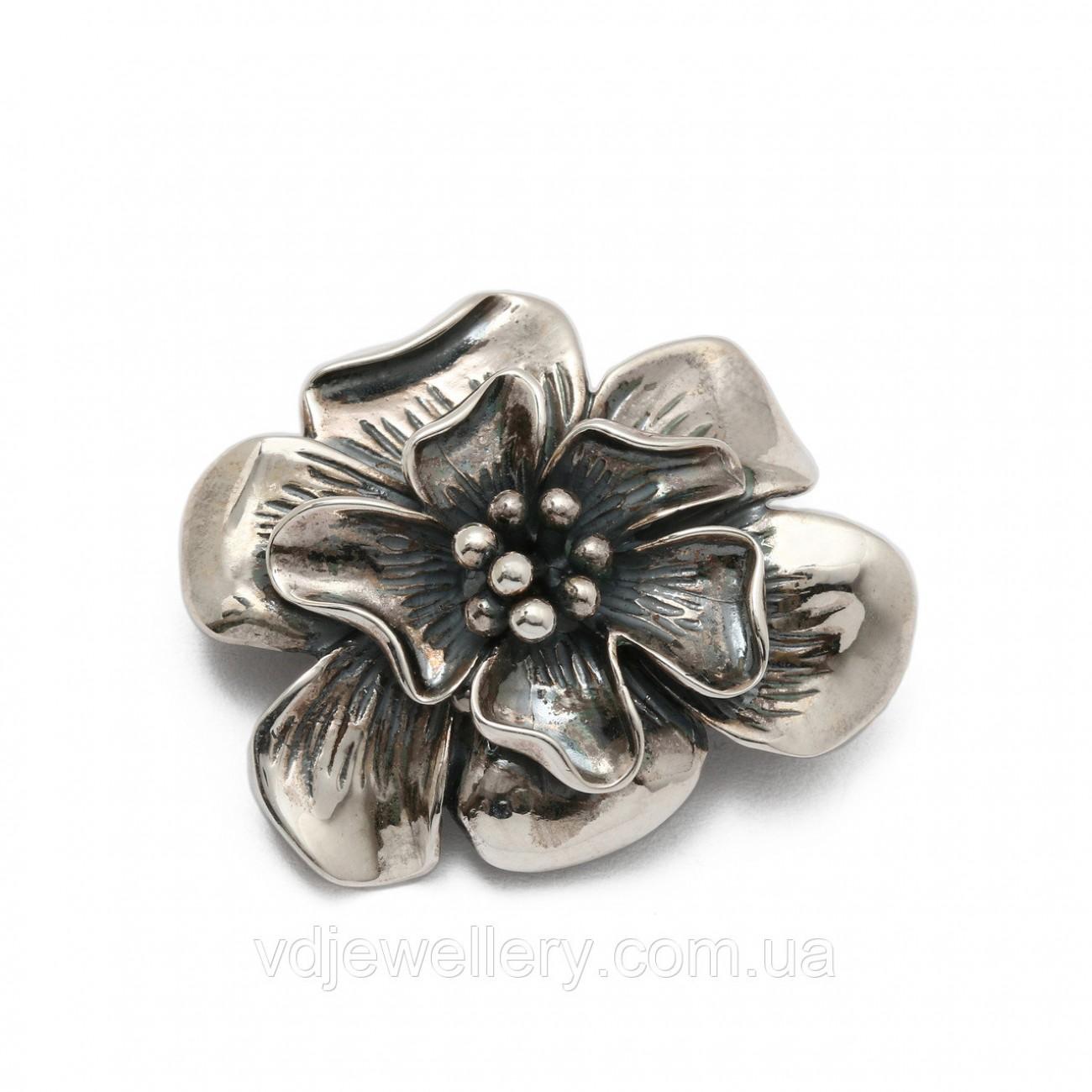 Серебряная брошка 6100067