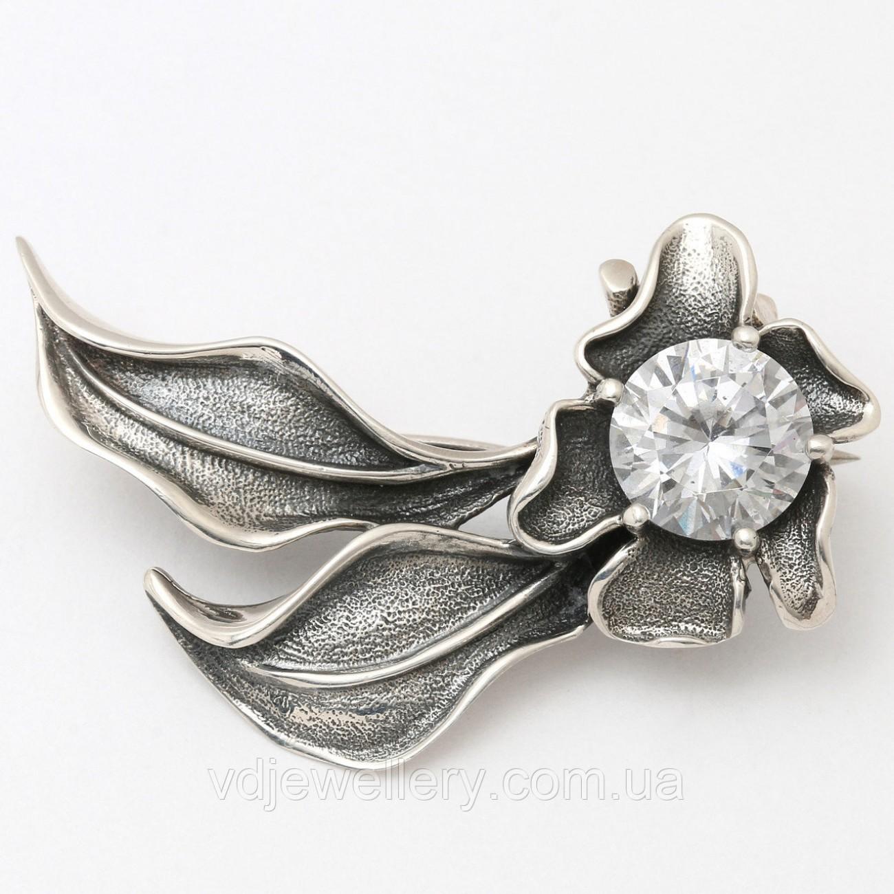 Серебряная брошка 6110050