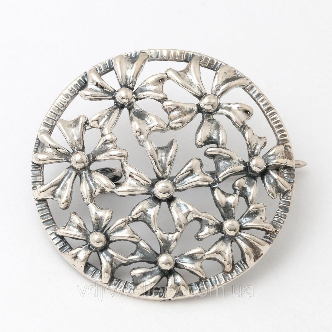 Серебряная брошка 6100040