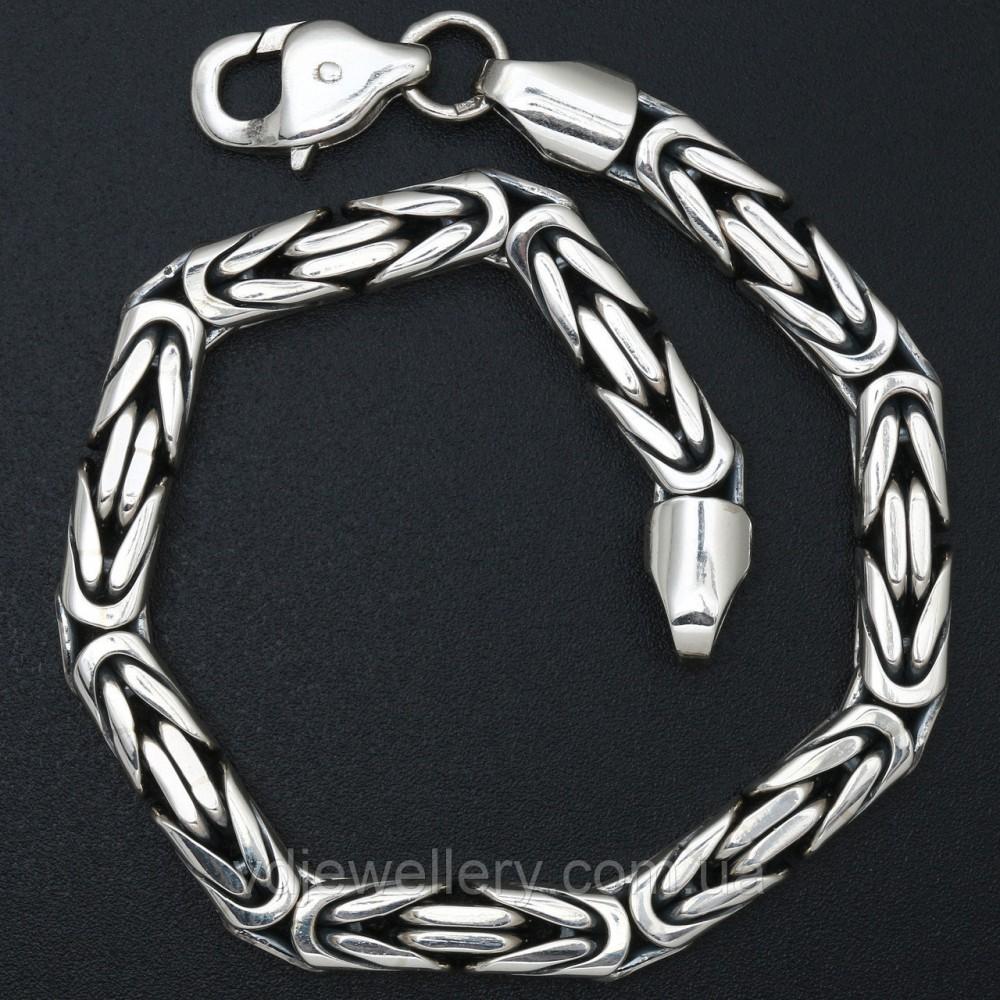 Мужской серебряный браслет 5100069вб1