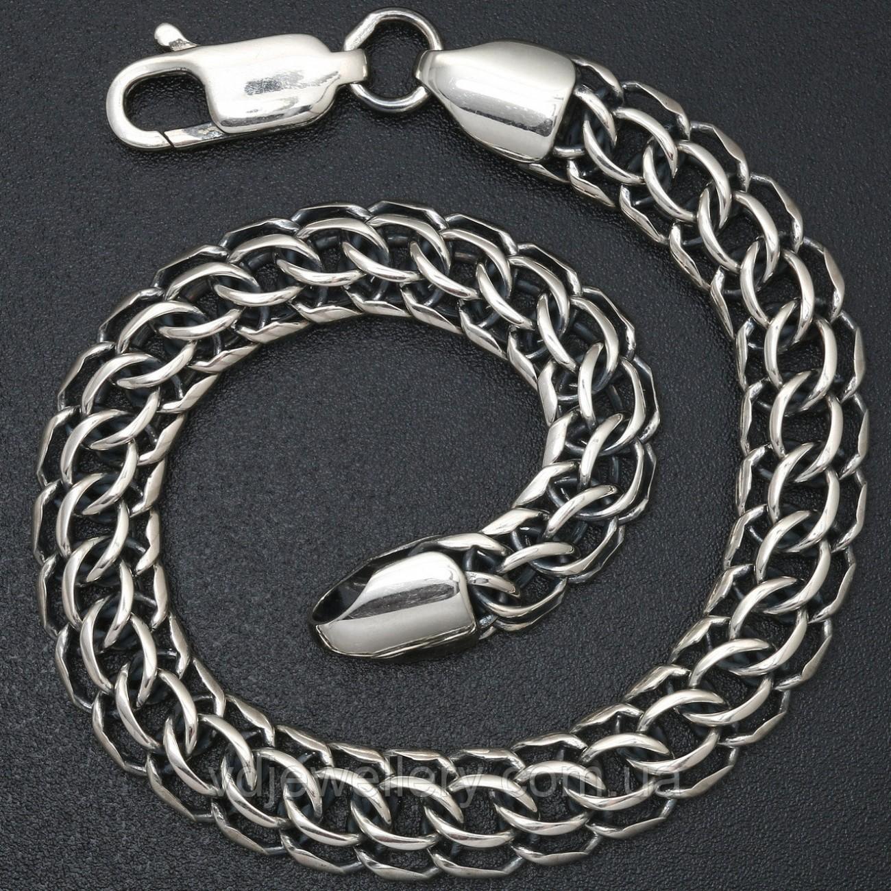 Мужской серебряный браслет 5100069-В15