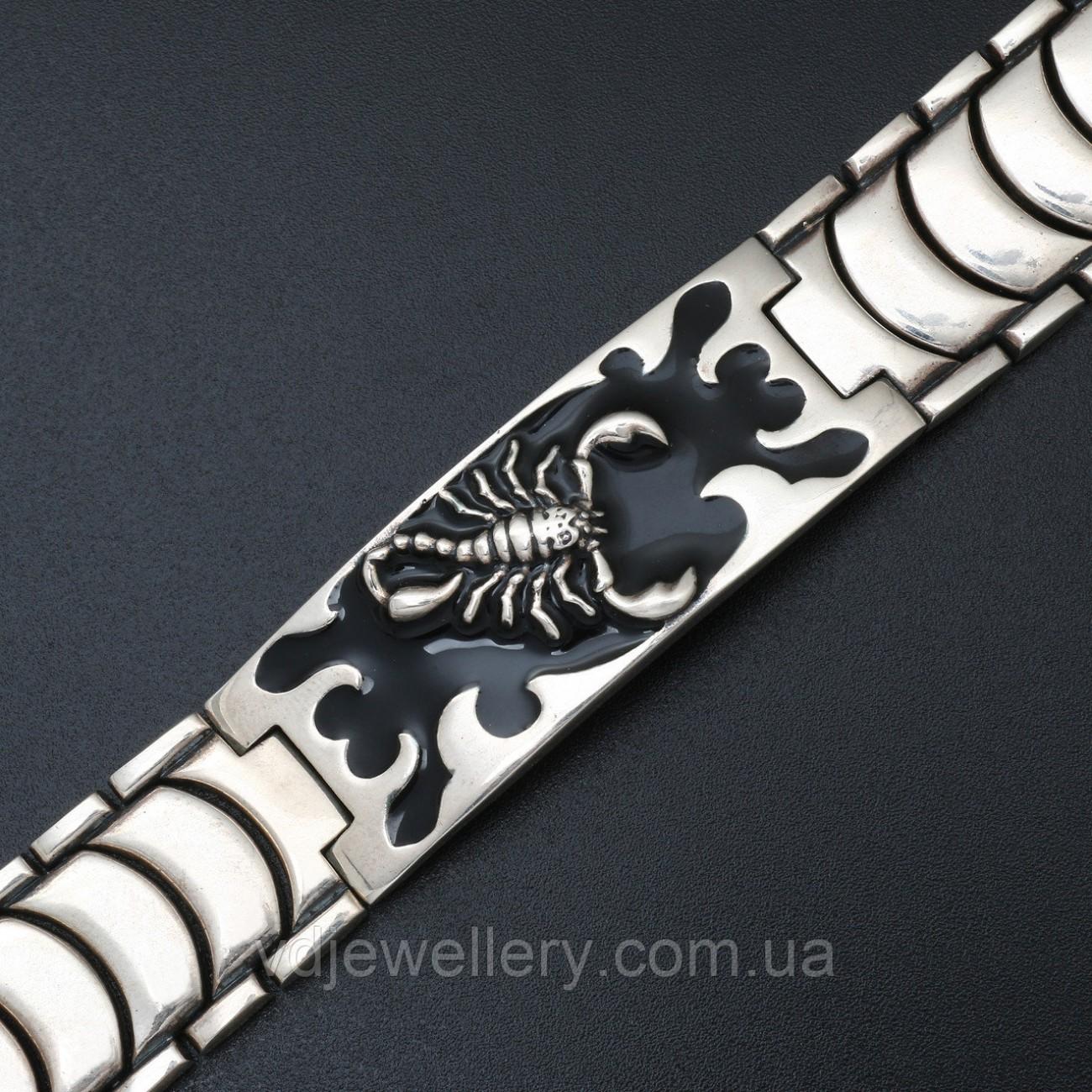 """Мужской серебряный браслет """"Скорпион"""" 5100291"""