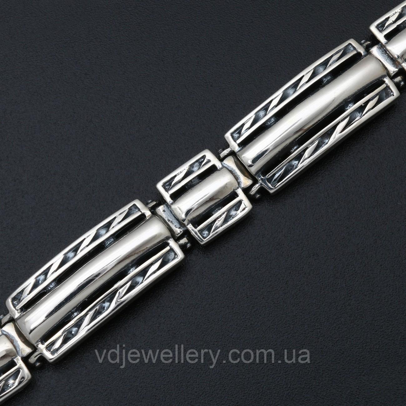 Мужской серебряный браслет 5100042