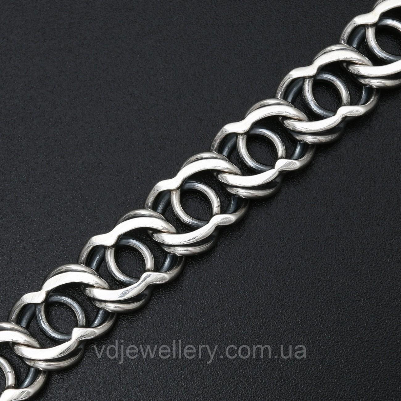 Мужской серебряный браслет 5100069-А25