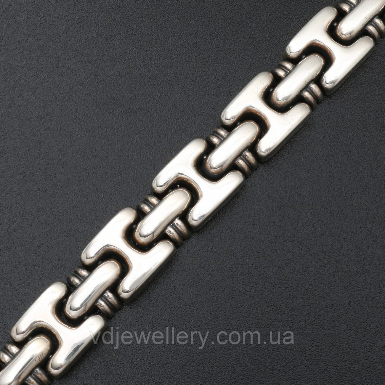 Мужской серебряный браслет 5100048