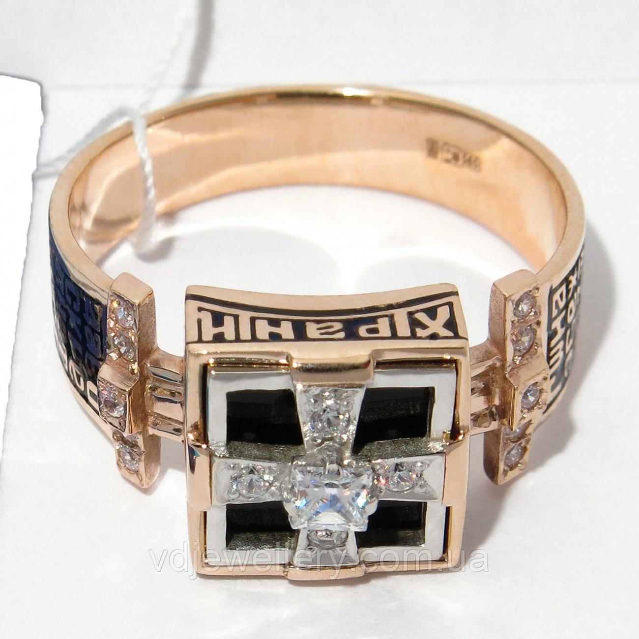 Мужское золотое кольцо КМХ-45