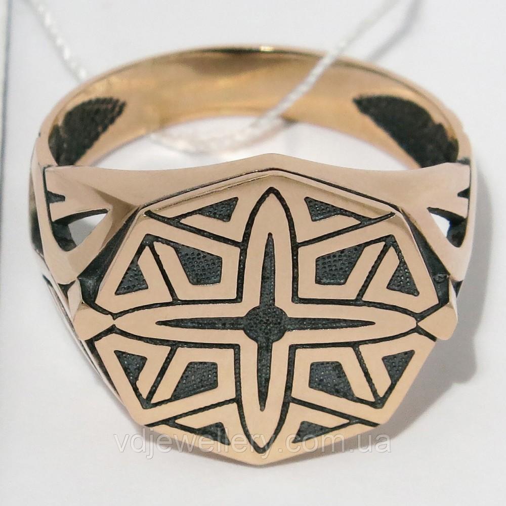Мужское золотое кольцо КМХ-22